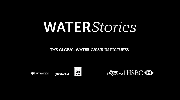 Water Stories logo with project partners logos